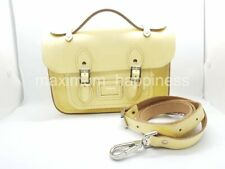 "THE CAMBRIDGE SATCHEL COMPANY 8"" LEMON MINI SATCHEL / TOP HANDLE BAG - AUTHENTIC"