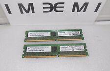 Crucial 2GB KIT 2x1GB 240Pin DDR2 ECC UNBUF PC2-5300E Server Memory CT12872AA667