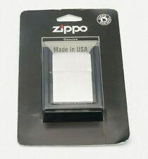 More details for genuine zippo windproof lighter - plain brushed steel - usa made - uk dealer