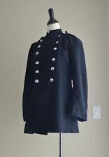 WARM Vintage English Fireman's Coat - Melton Wool - Original Buttons Excellent!