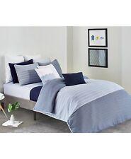 Lacoste 3-Piece FULL/QUEEN Duvet Cover Set L12.12 Cotton Blue Stripe B99035