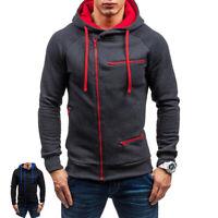 Men's Warm Hoodie Hooded Sweatshirt Jacket Outwear Jumper Winter Sweater Coat