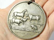 More details for c1880warwickshire agricultural society honorary medal animals pictorial a/f #c3