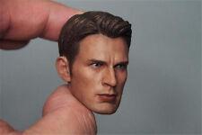 """1/6 Captain America Chris Evans Head Sculpt Avengers F 12"""" ZC Figures Movie"""