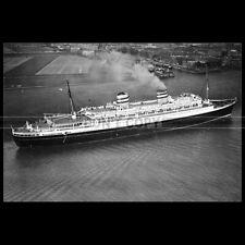 Photo B.002304 SS NIEUW AMSTERDAM HOLLAND AMERICA LINE WW2 PAQUEBOT OCEAN LINER