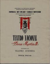 Original vintage Theatre Programe -  Portugal, 1960s years