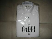 Cardi pleated white Tuxedo shirt - laydown collar - Boys XS - Neck 10 10.5