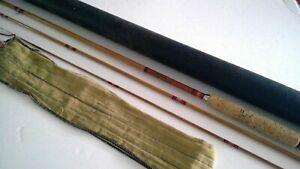 """Vintage Horrocks Ibbotson Bamboo Fly Fishing Rod 8'6"""""""