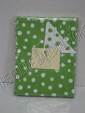 Pottery Barn Kids Polka Dot Bed Bedroom Dorm Duvet Cover Twin Green Reversible