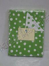 Pottery Barn Kids Polka Dot Bed Bedroom Dorm Duvet Cover Twin Green Reversible