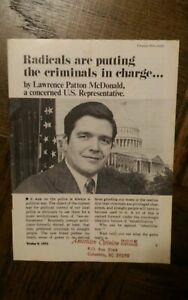 Lawrence Patton McDonald RADICALS ARE PUTTING THE CRIMINALS IN CHARGE 1975 C21