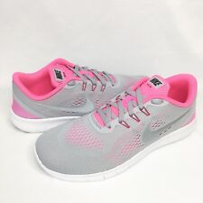 Nike Free Run Running Shoes Grey / Pink Size 6.5Y Women 8