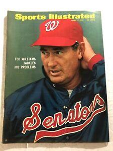 1969 Sports Illustrated WASHINGTON Senators TED WILLIAMS No Label BOSTON Red Sox