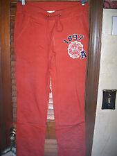 "Lundi by Be Cool~NWT's sz M Rust orange sweatpants ""university of love"""
