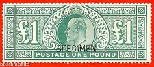 SG. 266 s. M55 s. £1.00 Dull blue - green. A very fine mounted mint example.
