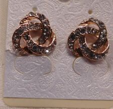 Earrings 9K Rose Gold Filled CZ Twisted