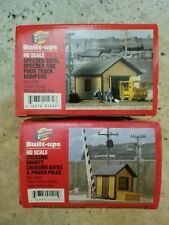Walthers Cornerstone Series 988-2802 & 933-2804 Built Ups Trackside Structures