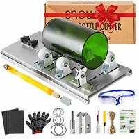 Glass Bottle Cutter Kit, Bottle Cutter DIY Machine with Size Marking for Cutting