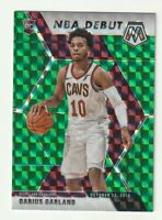 2019-20 Panini Mosaic Prizm Green Rookie RC Darius Garland SP NBA Debut