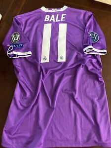 Real Madrid Gareth Bale Shirt CL Adidas Player Issue Shirt Adizero Jersey