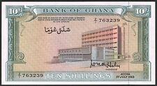 Ghana 10 Shillings 1963 Pick 1d UNC
