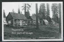 CA Mineral RPPC 1950's CABINS at MINERAL LODGE near MT LASSEN by Eastman B-6076
