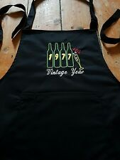 40th birthday gift apron black cotton with pockets