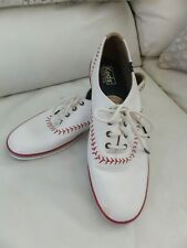 Women's Leather Baseball Style Keds Champion Pennant Series - Size 10