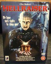 Hellraiser 1-3 + Clive Barker's Salome and The Forbidden (UK DVD) REGION 2