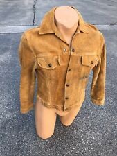 Vintage 1960s Levis Suede Leather Big E Snap Front Jacket Small