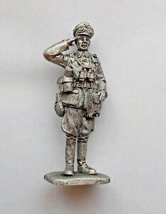 "1/30 German Tank WWII Officer Panzer Tin Metal soldier 65 mm / 2,5"" Figure NEW"