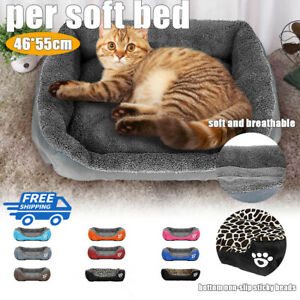 Dog Beds Pet Cushion House Comfy Fabric Waterproof Soft Warm Bed Kennel Blanket
