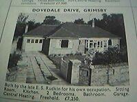 ephemera 1971 picture advert dovedale drive grimsby