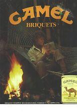 PUBLICITE ADVERTISING  1986  CAMEL briquets fabriqués par ZIPPO