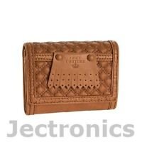 New Juicy Couture Tan Leather French Purse Wallet Clutch- Tan YSRU1538