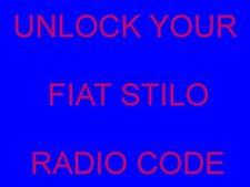 UNLOCK YOUR FIAT STILO RADIO CODE DECODE (Same Day Service 24/7)