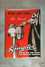 "Vintage  Style Ad Fridge Magnet 2 1/2"" x 3 1/2"" Simplex Drive-in Movie Speakers"