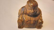 TIGER EYE CARVED BUDDHA,TIBETAN,PROTECTION,PROSPERITY,CLEAR ENERGY,ALIGN BALANCE