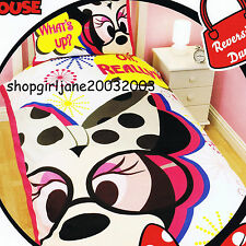 Minnie Mouse Disney - What's Up? - Single/Twin Bed Quilt Doona Duvet Cover Set