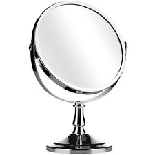 REFLET Rond Support Libre Argent Salle De Bain Chrome/Maquillage Miroir