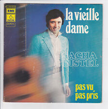 "SACHA DISTEL Vinyle 45 tours SP 7"" LA VIEILLE DAME  PATHE 008 95338 NM F Reduit"