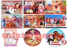 Cialda - Ostia per torte Pets La Vita Segreta degli Animali Formato A3 grande