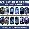 DOG TAG NECKLACE - Wolf Howling at the Moon #1 Wolves American Spiritual Native