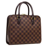 LOUIS VUITTON TRIANA HAND BAG VI0013 PURSE DAMIER CANVAS EBENE N51155 36762