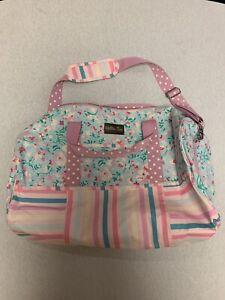 NIB Matilda Jane Slumber Party Duffle Bag Wonderment Pink Floral