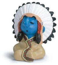 Les Schtroumpfs figurine Schtroumpf Chef de Tribu 5cm Smurfs Chief figure 205567