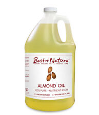 Best of Nature 100% Pure Almond Massage & Carrier Oil - Gallon (128 Ounces)