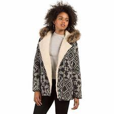 2017 NWT WOMENS VOLCOM SHOWDOWN JACKET $160 S black sherpa lined faux fur trim