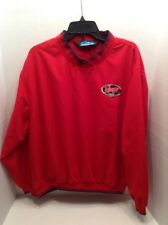 Tri-Mountain MEN'S RANGER BOATS Patch PULLOVER 40TH ANNIVERSARY Large Red