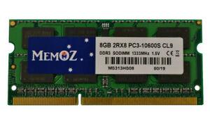 8GB DDR3 Notebook RAM PC3 10600 Laptop Memory 1.5V Sodimm Memoz 5 Years Warranty